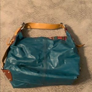 Bags - Teal Vegan bucket hobo bag